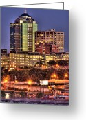 Kansas City Missouri Greeting Cards - Kansas City Missouri Skyline Greeting Card by Don Wolf