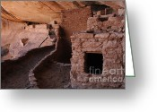 Cliff Dwellers Greeting Cards - Keet Seel 6 Greeting Card by Bob Christopher