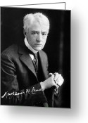 Autograph Greeting Cards - Kenesaw Mountain Landis Greeting Card by Granger