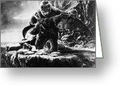 Pterodactyl Greeting Cards - King Kong, 1933 Greeting Card by Granger