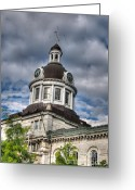 Kingston City Hall Greeting Cards - Kingston City Hall Greeting Card by Blair Hall