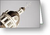Downtown Kingston Greeting Cards - Kingston City Hall Dome Greeting Card by Michel Soucy