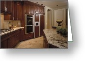 Cupboards Greeting Cards - Kitchen Greeting Card by Robert Pisano