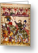 Jousting Greeting Cards - KNIGHT, 14th CENTURY Greeting Card by Granger
