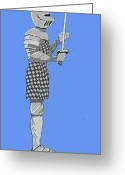 Photorealism Digital Art Greeting Cards - Knight Greeting Card by Stacy Bottoms