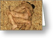 Erotic Greeting Cards - Kuma Sutra Greeting Card by Kurt Van Wagner