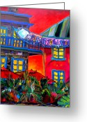 Riverwalk Greeting Cards - La Villita Entrance Greeting Card by Patti Schermerhorn
