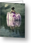 Evening Dress Greeting Cards - Lady In The Lake Greeting Card by Joana Kruse