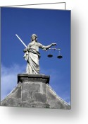 Lawyer Greeting Cards - Lady Justice Greeting Card by Joe Burns