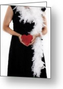 Roaring Twenties Greeting Cards - Lady With Heart Greeting Card by Joana Kruse