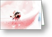 Black Point Greeting Cards - Ladybirds II Greeting Card by Mandy Tabatt