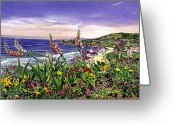 Most Painting Greeting Cards - Laguna Niguel Garden Greeting Card by David Lloyd Glover