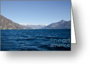 Lake Como Greeting Cards - Lake como Greeting Card by Mats Silvan