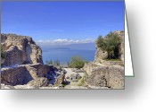 Archaeological Greeting Cards - Lake Garda Greeting Card by Joana Kruse