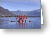 Autumn Art Greeting Cards - Lake Maggiore Locarno Greeting Card by Joana Kruse