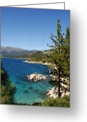 Nevada Greeting Cards - Lake Tahoe Shoreline Greeting Card by Scott McGuire