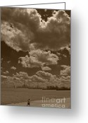 Runner Photo Greeting Cards - Lakefront jogger Greeting Card by Jim Wright
