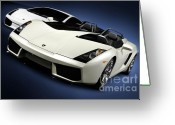 Super Car Greeting Cards - Lamborghini Super Cars Greeting Card by Oleksiy Maksymenko