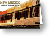 Adobe Architecture Greeting Cards - Land Of Enchantment Greeting Card by David Lee Thompson