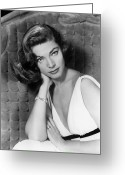 1940s Fashion Greeting Cards - LAUREN BACALL (b.1924) Greeting Card by Granger