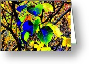 Rich Colored Greeting Cards - Lavish Leaves 1 Greeting Card by Will Borden
