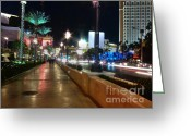 Treasure Island Greeting Cards - Leaving Las Vegas Greeting Card by David Bearden