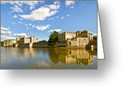 Eleanor Greeting Cards - Leeds Castle Reflected Greeting Card by Chris Thaxter