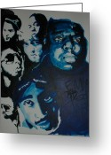 Kanye West Painting Greeting Cards - Legends Together Greeting Card by Matt Burke