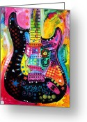Blues Greeting Cards - Lenny Strat Greeting Card by Dean Russo