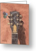 Ken Greeting Cards - Les Paul Studio Greeting Card by Ken Powers