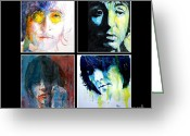George Harrison Painting Greeting Cards - Let Them Be Greeting Card by Paul Lovering
