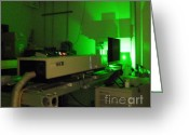 Laser Beam Greeting Cards - Lidar Beam, Light Detection And Ranging Greeting Card by Science Source