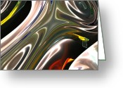 Award Winning Digital Art Greeting Cards - Light from the Core Greeting Card by Monika Wright