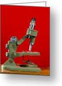Knob Greeting Cards - Light Microscope Greeting Card by Andrew Lambert Photography