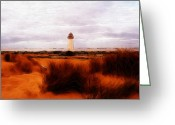 Beach Pastels Greeting Cards - Lighthouse Greeting Card by Stefan Kuhn