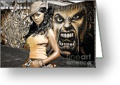Lil Wayne Greeting Cards - Lil Kim Greeting Card by The DigArtisT