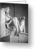 National Digital Art Greeting Cards - Lincoln Memorial Greeting Card by Mike McGlothlen