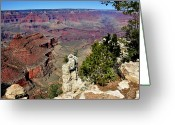 Grand Canyon Greeting Cards - Lipan Point Greeting Card by Thomas R Fletcher