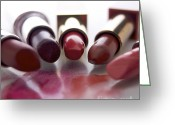 Cosmetics Greeting Cards - Lipsticks Greeting Card by Bernard Jaubert
