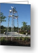 Wind Sculpture Greeting Cards - Little Chico Creek Sculpture Greeting Card by Peter Piatt