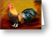 Surroundings Greeting Cards - Little Red Rooster Greeting Card by James Shepherd
