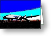 Dolphin Digital Art Greeting Cards - Lockheed Constellation Greeting Card by Will Borden