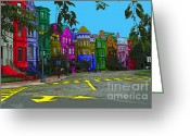 Logan Circle Greeting Cards - Logan Circle Greeting Card by Jost Houk