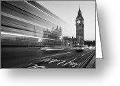 Church Greeting Cards - London Big Ben Greeting Card by Nina Papiorek
