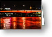 Night Shots Greeting Cards - London Bridge at Night Greeting Card by Dawn OConnor