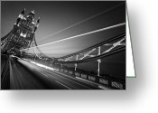 Olympia Greeting Cards - London Tower Bridge Greeting Card by Nina Papiorek