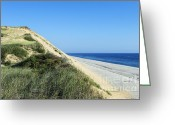 Atlantic Beaches Greeting Cards - Long Nook Beach Truro Greeting Card by John Greim