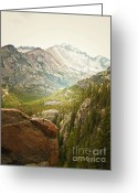 Autumn Photographs Greeting Cards - Longs Peak Greeting Card by Andrea Hazel Ihlefeld