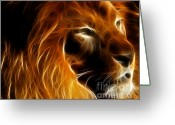 Fractal Art Greeting Cards - Lord Of The Jungle Greeting Card by Wingsdomain Art and Photography