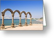 Archway Greeting Cards - Los Arcos Amphitheater in Puerto Vallarta Greeting Card by Elena Elisseeva